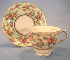 vintage cups saucers   vintage cup and saucer rose chintz sold pretty tea cup and saucer ...