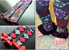 DIY Baby Leg Warmers - could you same concept to create arm warmers for adults! (with tutorial)