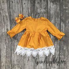 Mustard & Lace Dress