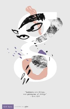 Gill Sans - Posters by Dough Rodas, via Behance