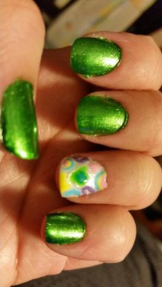 Lucky charms st. Patty's day nails