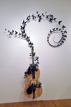 cello and butterflies solo cool i love it! especially since i play the cello. This is what I've decided to do to that old broken cello out in the garage, and possibly the violin too. Guitar Art, Cello Art, Cello Music, Music Music, Music Puns, Music Logo, Photo Images, Sound Of Music, Art Plastique