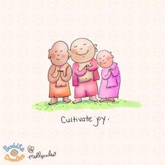 Cultivate Joy - Buddha Doodles