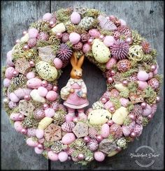 How to Make an Easter Wreath Easter Wreaths, Christmas Wreaths, Easter Party, Easter Crafts, Easter Eggs, Creations, Continue Reading, Joy, Rabbits