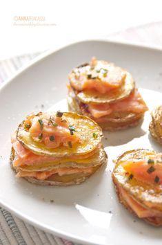 Millefoglie di salmone e patate