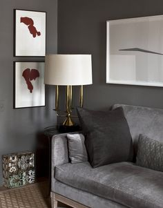 Francisco Costa's New York apartment (via Habitually Chic®) Grey Room, Living Room Grey, Home Living Room, Living Spaces, Gray Interior, Interior Exterior, Interior Design, Fashion Design Inspiration, Interior Inspiration