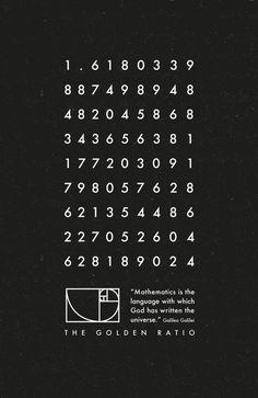 Le nombre d'or - sciences/mathématiques art imprimé #Mathematics