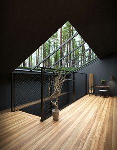 Amazing Architecture, Contemporary Architecture, Interior Architecture, Black Architecture, Interior Design, Dream Home Design, Modern House Design, Harriman State Park, Forest House