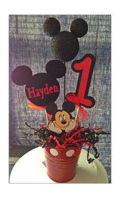 Mickey Mouse personalized party piece by RaeofSunshinedesign, $12.00 Mickey Mouse Theme Party, Fiesta Mickey Mouse, Mickey Mouse Clubhouse Party, Mickey Mouse Clubhouse Birthday, Mickey Mouse Birthday, 1st Boy Birthday, 2nd Birthday Parties, Birthday Ideas, Mickey 1st Birthdays