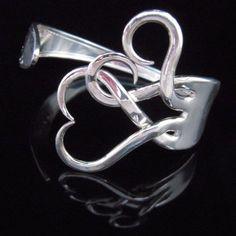 Elegantly Curved Utensil Jewelry : Recycled Jewelry Fork Bracelets