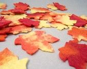 Fall Leaves - Felted Wool