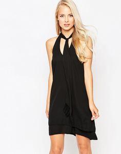 Love Fringed Pussybow Dress