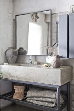 Love the idea of the #industrial look in your home but not sure how to create it? Exposed metal combined with concrete is a great place to start