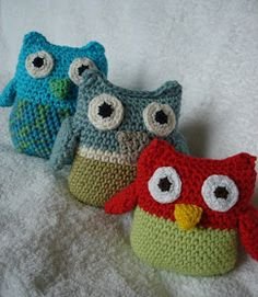 Crochet owl - free pattern I think I'm going to start working on one of these tonight!