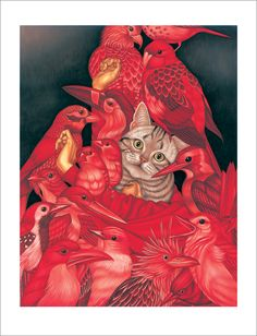 Egene Koo - Print - Being Alone 2 (Cat) - Nucleus | Art Gallery and Store