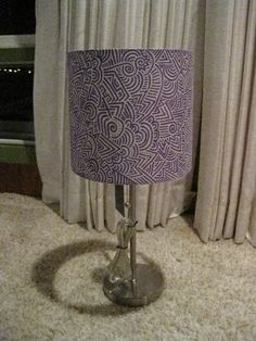 Lamp with Sharpie Designs