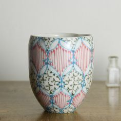Wheel Thrown Ceramic Tumbler  Juice Cup with by dawndishawceramics, $36.00