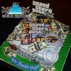 GRAND THEFT AUTO BIRTHDAY CAKE