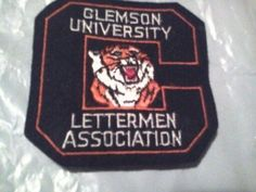 Clemson Tigers Letterman's Association Patch Vintage Football College NCAA rare   #1730585743