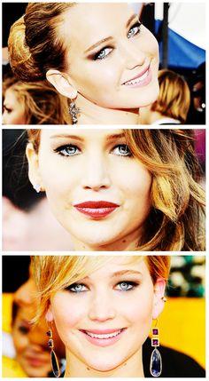 Jennifer at the SAG Awards the past three years. Still beautiful ♥