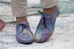 Mehrfarbigen Lederschuhe bunte Schuhe Leder Oxford von BangiShop