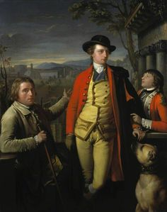 Gavin Hamilton, Douglas Hamilton, 8th Duke of Hamilton and 5th Duke of Brandon (1756-1799), with Dr John Moore (1730-1802) and Sir John Moore (1761-1809), as a young boy, 1775-7. National Galleries of Scotland.