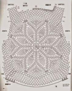 Vestido que combina tela con crochet | Crochet y Dos agujas