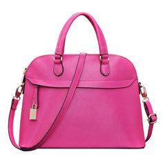 Women's Leather Bag B2047 (Fushcia)