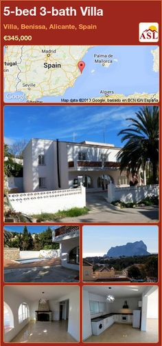 5-bed 3-bath Villa in Villa, Benissa, Alicante, Spain ►€345,000 #PropertyForSaleInSpain