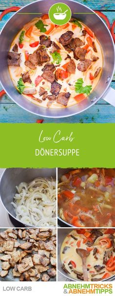 Low Carb Dönersuppe - Schön deftig & schnell gezaubert - Low carb - Low carb kebab soup – beautifully hearty & quickly conjured up Healthy Low Carb Recipes, Healthy Snacks, Sopas Low Carb, Menu Dieta, Dieta Paleo, Birthday Dinners, Paleo Dinner, Low Carb Diet, Calorie Diet