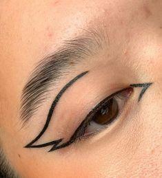 Edgy Makeup, Makeup Eye Looks, Grunge Makeup, Creative Makeup Looks, Eye Makeup Art, No Eyeliner Makeup, Pretty Makeup, Makeup Inspo, Makeup Inspiration