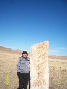 나르는 순록 신화상징 비록석 - 몽골 홉스골