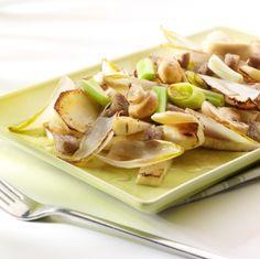 Winterse groentewok #prei #lente-ui #pastinaak #knolselder #champignons #knoflook #soja-saus #citroen