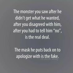 Maybe he got fed up with repeats d unprovoked verbal assaults from his Narcissist Spouse? Narcissistic Behavior, Narcissistic Abuse Recovery, Narcissistic Sociopath, Narcissistic Personality Disorder, Abusive Relationship, Relationship Quotes, Relationships, Quotes To Live By, Me Quotes