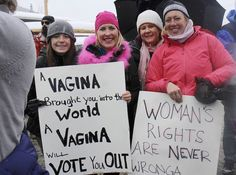 trump signs in the women's march - Google Search
