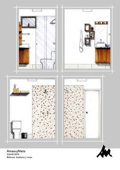 Bathroom renoval by Amaury Neto, via Behance