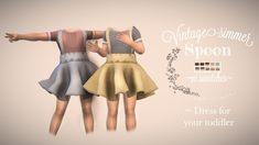 ˗ˏˋSpoon Dressˎˊ˗ Original Mesh by [ Toodler ] (If you use my cc Please tag me /ig: Thanks! Sims 4 Toddler Clothes, Sims 4 Cc Kids Clothing, Sims 4 Mods Clothes, Sims Mods, The Sims 4 Bebes, The Sims 4 Packs, Sims 4 Collections, Sims 4 Children, Sims4 Clothes