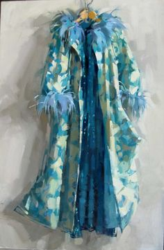 Frock - oil by ©Maggie Siner - www.maggiesiner.com/paintings.php?painting=Wrap%20and%20Gowncategory=frocks