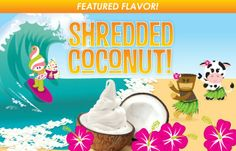 Characters Introduce the Shredded Coconut Flavor for Menchie's Frozen Yogurt by Works Progress Menchies Frozen Yogurt, Frozen Yoghurt, Yogurt Brands, Shredded Coconut, Case Study, Brand Identity, It Works, Characters, Projects