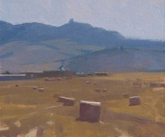 """©Frank Hobbs: """"Italy - Haying in the Val D'Orcia,"""" oil on panel, 12 x 15 in. 
