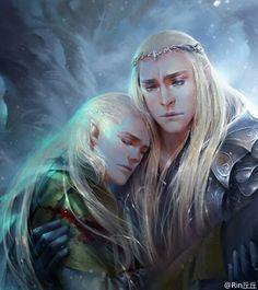 Thranduil and Legolas by Rin丘丘