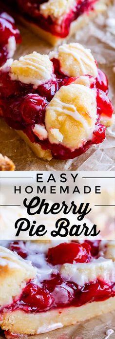 Cherry Desserts, Cherry Recipes, Köstliche Desserts, Delicious Desserts, Dessert Recipes, Desserts With Cherries, Cherry Pie Filling Desserts, Cheesecake Recipes, Homemade Shortbread