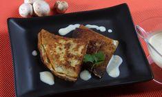 Receta de Crepes de champiñón y queso