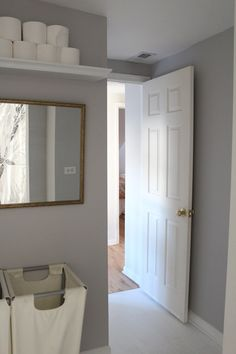bathrooms - Behr - Dolphin Fin - gray wall. I used this in  my bathroom! !! I love it!!!