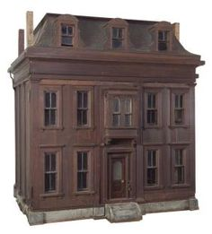 Lot: 450: The Dutch House - A mid-Victorian Mahogany Mansion, Lot Number: 0450, Starting Bid: $7,500, Auctioneer: Noel Barrett, Auction: Dolls' House, Miniature, and Doll Auction, Date: December 10th, 2005 UTC