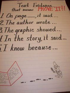 4th grade Reading Comprehension-Textual Evidence