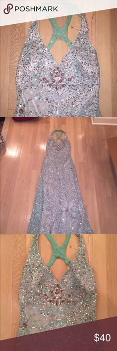 Dress 0 marine ball prom formal sequin Super gorgeous, no huge pieces missing Dresses Prom