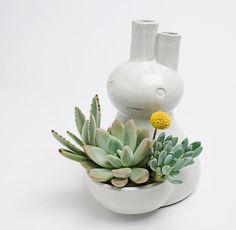 Rabbit planter by jen kuroki