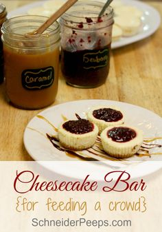 Needing a make ahead dessert that is easy to serve to a crowd? This cheesecake recipe is just that. Make Ahead Desserts, Desserts For A Crowd, Cheesecake Bars, Cheesecake Recipes, Real Food Recipes, Dessert Recipes, Tea Recipes, Yummy Recipes, Delicious Desserts