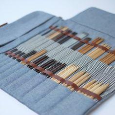 DPN Case, Double Pointed Knitting Needle case, DPN Organizer, dpn Holder